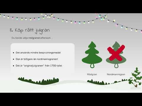 De 10 Budorden för en Grönare Jul