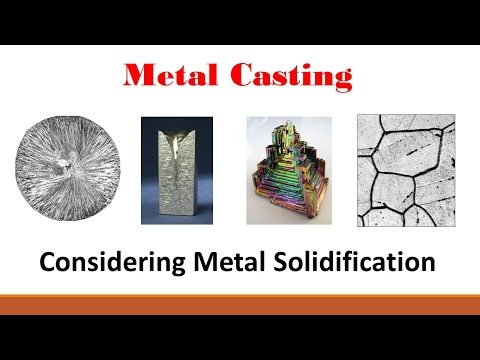 Metal Casting  (Part 2: Metal Solidification & Chvorinov's R