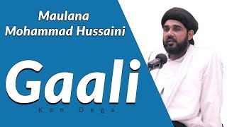 Maulana Mohammad Hussaini | Gaali Kon Dega | गाली कौन देगा | मौलाना मोहम्मद हुसैनी