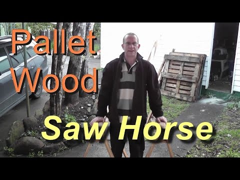 How to make a pallet wood saw horse
