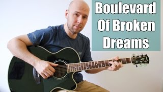 Green Day - Boulevard Of Broken Dreams Fingerstyle Guitar