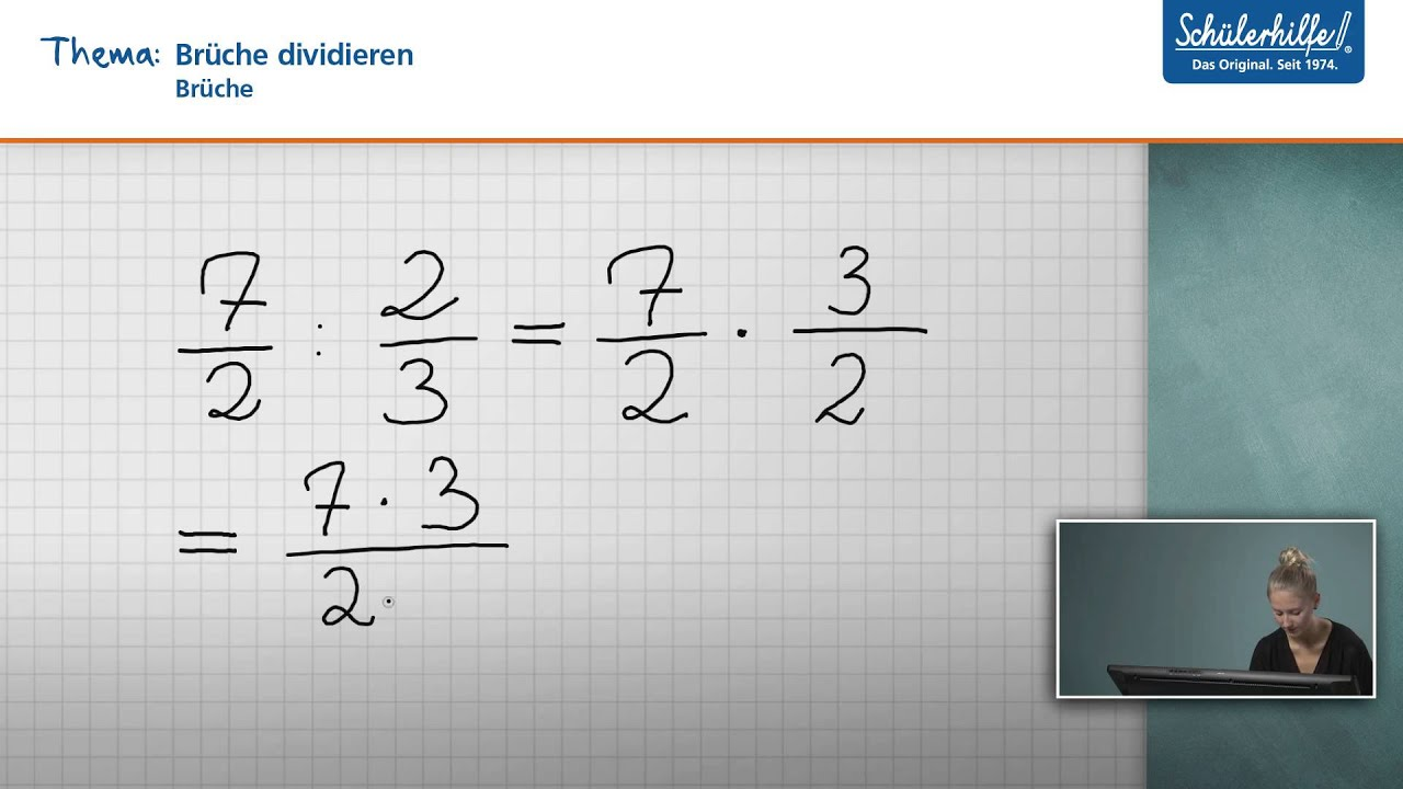 Multiplikation U0026 Division // Brüche // Mathematik // Schülerhilfe Lernvideo