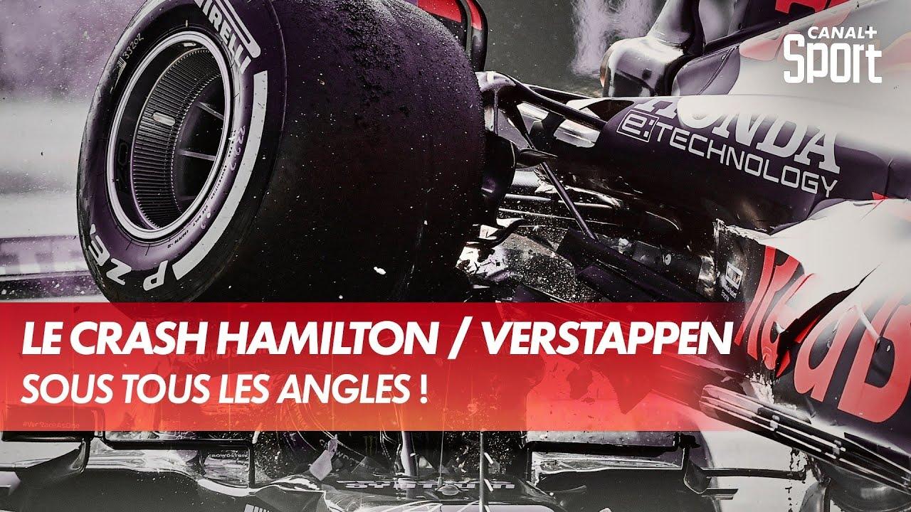 Le crash Hamilton / Verstappen sous tous les angles - CANAL+ Sport