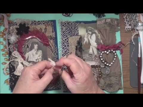 Bohemian / Gypsy Inspired Fabric Book - Pages 7 and 8