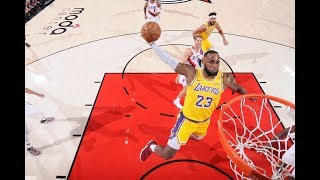 LeBron James Brought Showtime To Portland In Lakers Debut | 26 PTS, 12 REB, 6 AST