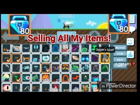 """PRO SELLING ALL ITEMS! + (I GOT 80 BLUE GEM LOCK!) OMG!! - Growtopia"