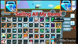 """PRO SELLING ALL ITEMS! + (I GOT 80 BLUE GEM LOCK!) OMG!! - Growtopia"