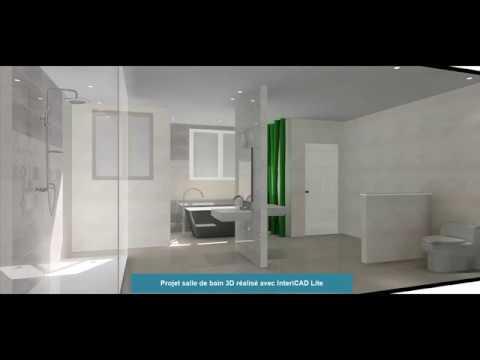 Projet Salle De Bain 3d Photo Realise Avec Intericad Lite Youtube