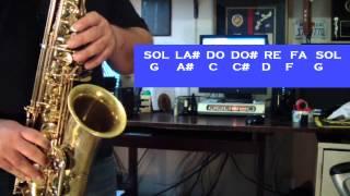 JAZZ/IMPROVISATION - BLUES EN SOL - (PARTE 1) TUTORIALES PARA EL SAX ALTO - SANTIAGO PACHECO