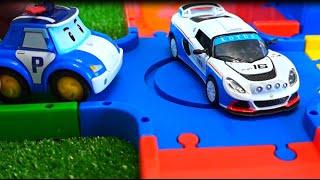 Супер Гонки. Робокар Поли и Гоночные машины. Мультфильмы для детей