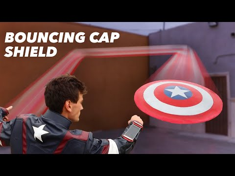 Real Captain America Shield That Actually Bounces Back! - OVER 100 FT BOUNCE!!!