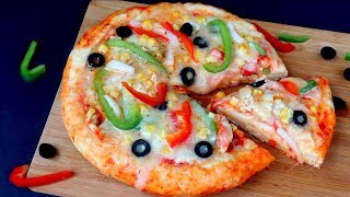 bread pizza by kabitas kitchen