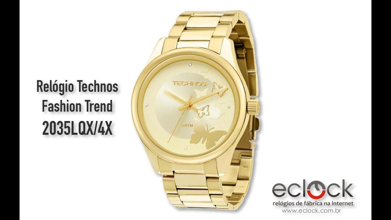 5d8b7f1937a95 Relógio Technos Feminino Fashion Trend 2035LQX 4X - Eclock. Eclock Relógios