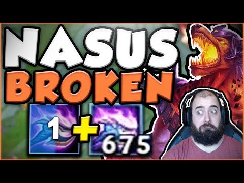 WTF RIOT?? NO NERFS YET? 1 SECOND Q + 600 STACKS IS SO BUSTED! NEW NASUS TOP OP! - League of Legends
