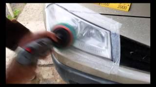 Полировка пластиковых фар
