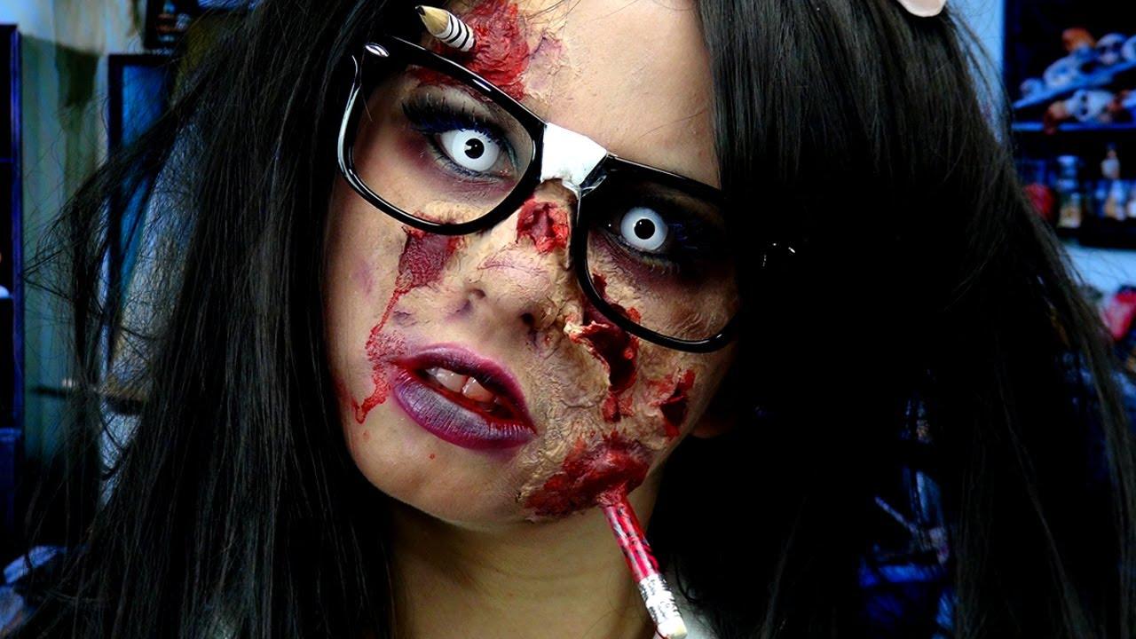 Zombie Nerd Makeup! - YouTube