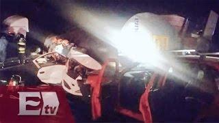 Dos muertos por carambola en la Autopista México-Querétaro / Martín Espinosa