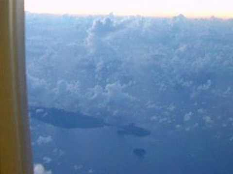 Fiji at dawn over the Pacific