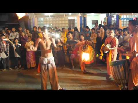 Hindu procession on a Yangon street