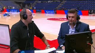 Miroslav Berić i Srđan Radojević Nakon Pobede Partizana nad Lokomotivom   SPORT KLUB KOŠARKA
