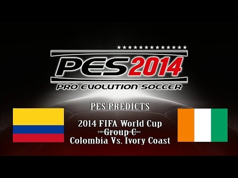 PES Predicts World Cup 2014 Group Stage (Colombia vs Ivory Coast)