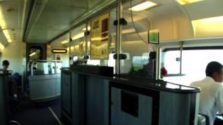 lunch time @ Amtrak Cafe Car