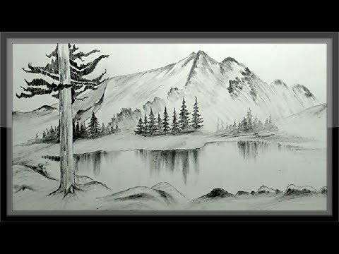 Pencil drawing images nature