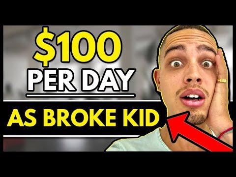Make FREE Money Online As BROKE kid ($100 Per Day)