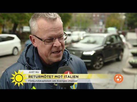 Janne Andersson laddar inför ödesmatchen mot Italien - med korv - Nyhetsmorgon (TV4)