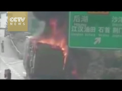 Not cool! Truck with 900 air conditioners catch fire on highway