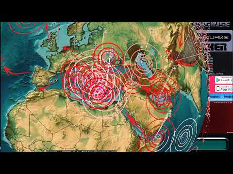 10/14/2017 -- Earthquake watch on West Coast USA + Europe struck as expected while on live