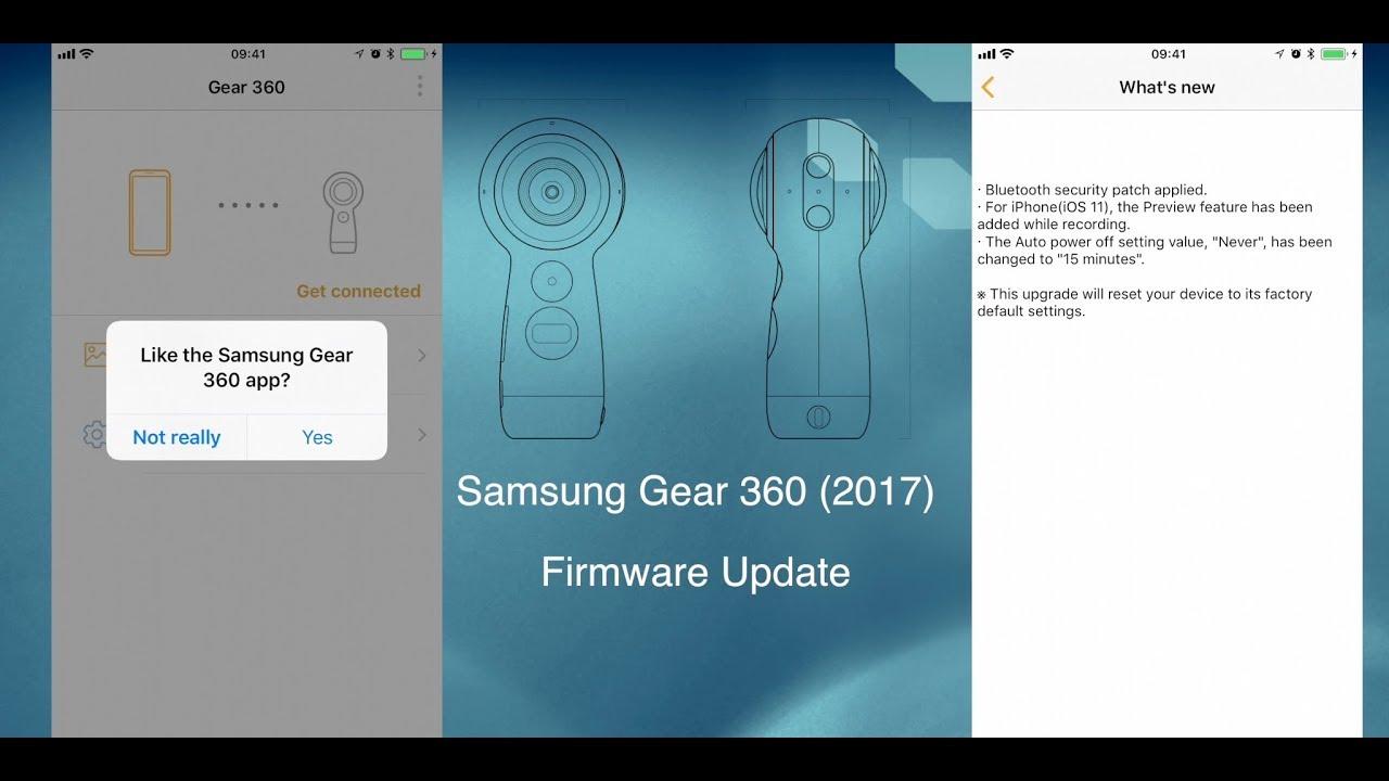 Samsung Gear 360 (2017) – Firmware Update