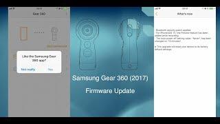 Samsung Gear 360 (2017) - Firmware Update