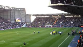 West Brom vs Norwich players entrance 14/1/2012
