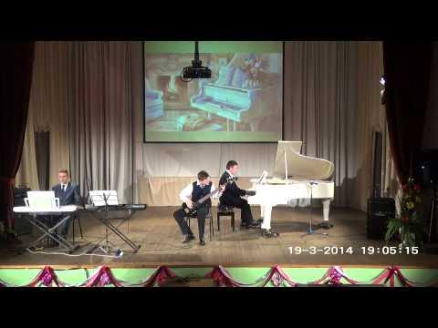 Отчетный концерт фортепианного отдела - 2014 А. Хэнди-Сент-Луи Блюз исп. трио в составе М. Вертков П. Игнатов И.К. Степенский