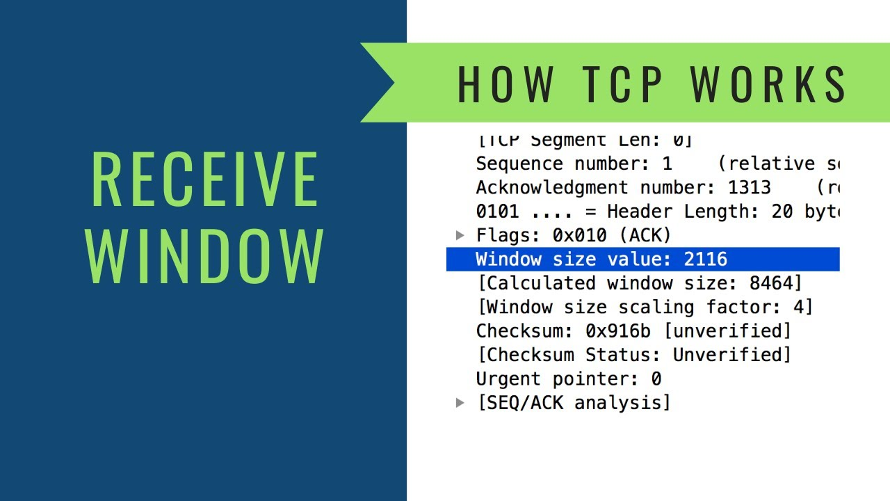 How TCP Works - The Receive Window