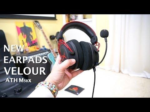 HyperX Hybrid Velour Ear Pads by Wicked Cushions + Fornite Gameplay