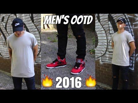 ffb2f08381b AIR JORDAN 4 OUTFIT - MEN'S OOTD/FOTD Summer 2016 - Men's Fashion - YouTube