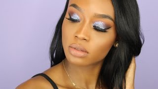 Prom Makeup Tutorial | GLITTER SMOKEY EYE