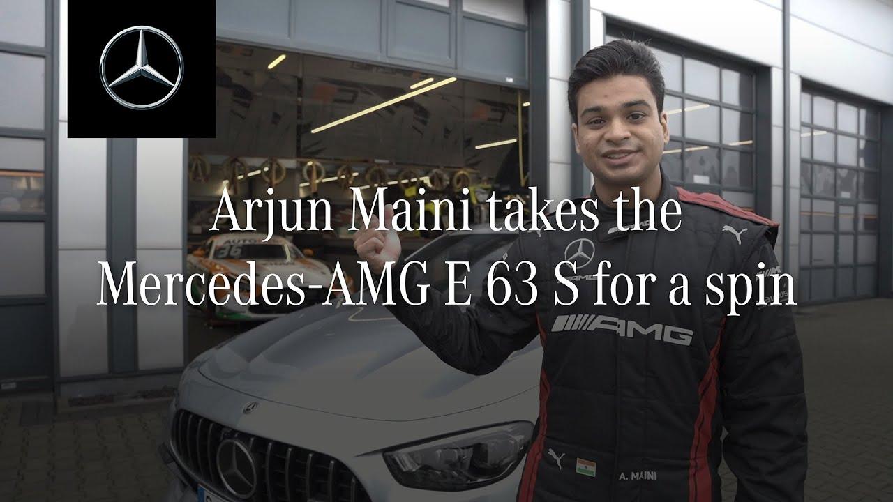 Download Arjun Maini crosses 300km/h in the new Mercedes-AMG E 63 S 4MATIC+