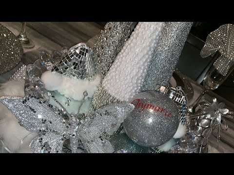 Easy Dollar Tree Christmas Diy/Holiday Glam Table Decor/2018