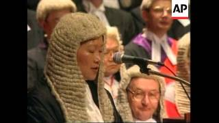 HONG KONG: JUDGES & LAWYERS OPEN LAST LEGAL YEAR UNDER BRITISH RULE