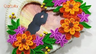 DIY Quilling Photo Frame from paper and cardboard | How to make Photo frame