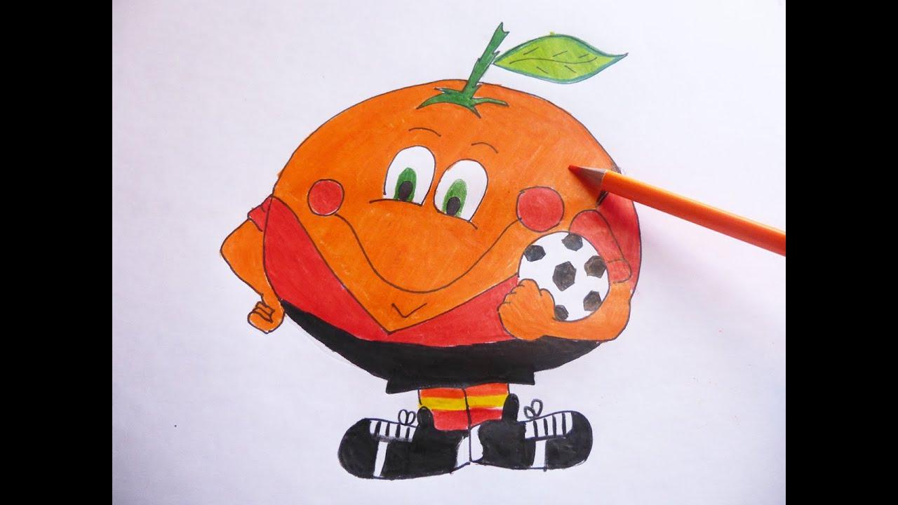 Como dibujar y pintar paso a paso a Mandarina  How to draw and