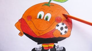 Como dibujar y pintar paso a paso a Mandarina - How to draw and paint step by step Mandarina
