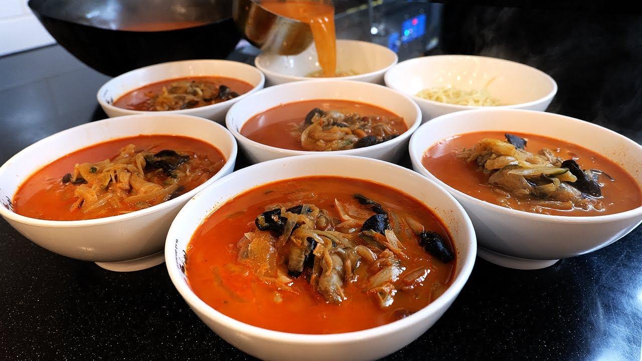 대한민국에서 가장 많이 팔리는 짬뽕! 10년간 6천만그릇 / amazing! seafood spicy noodle factory - jjamppong / korean food