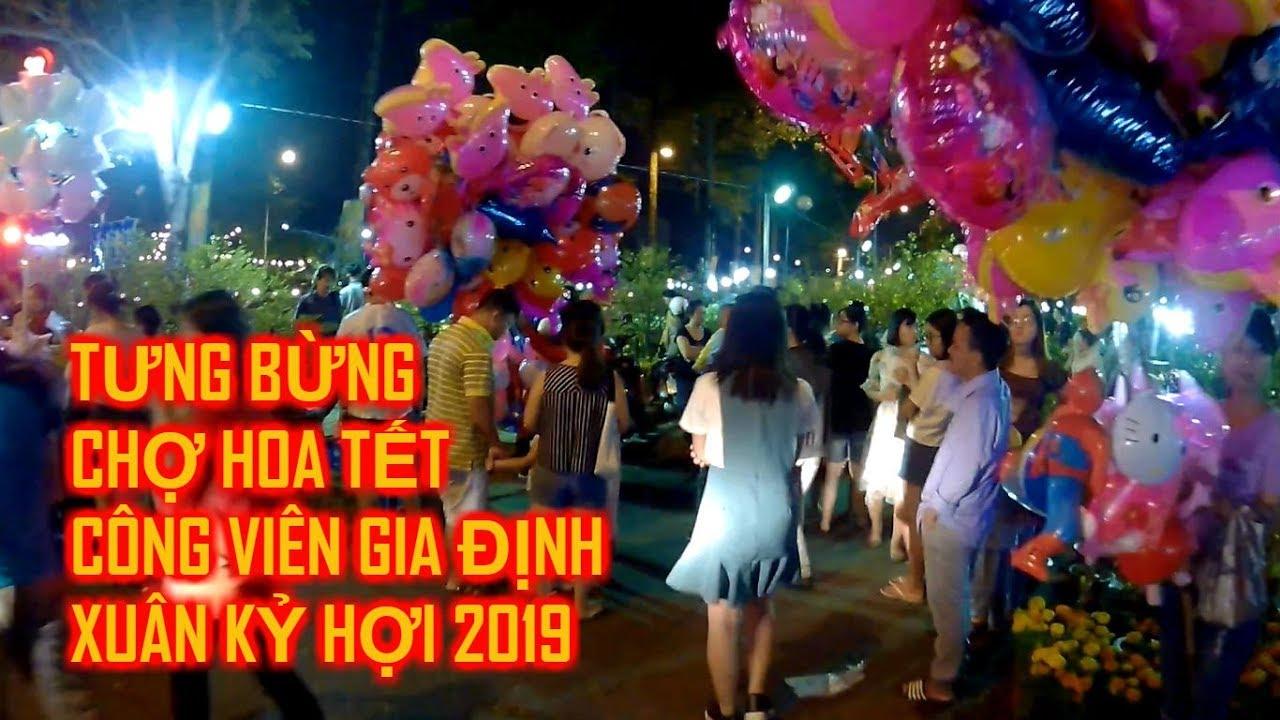 Cuộc Sống Sài Gòn – Chợ Hoa Tết Năm 2019 – Chợ Hoa Tết Công Viên Gia Định