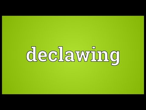 Declawing Meaning