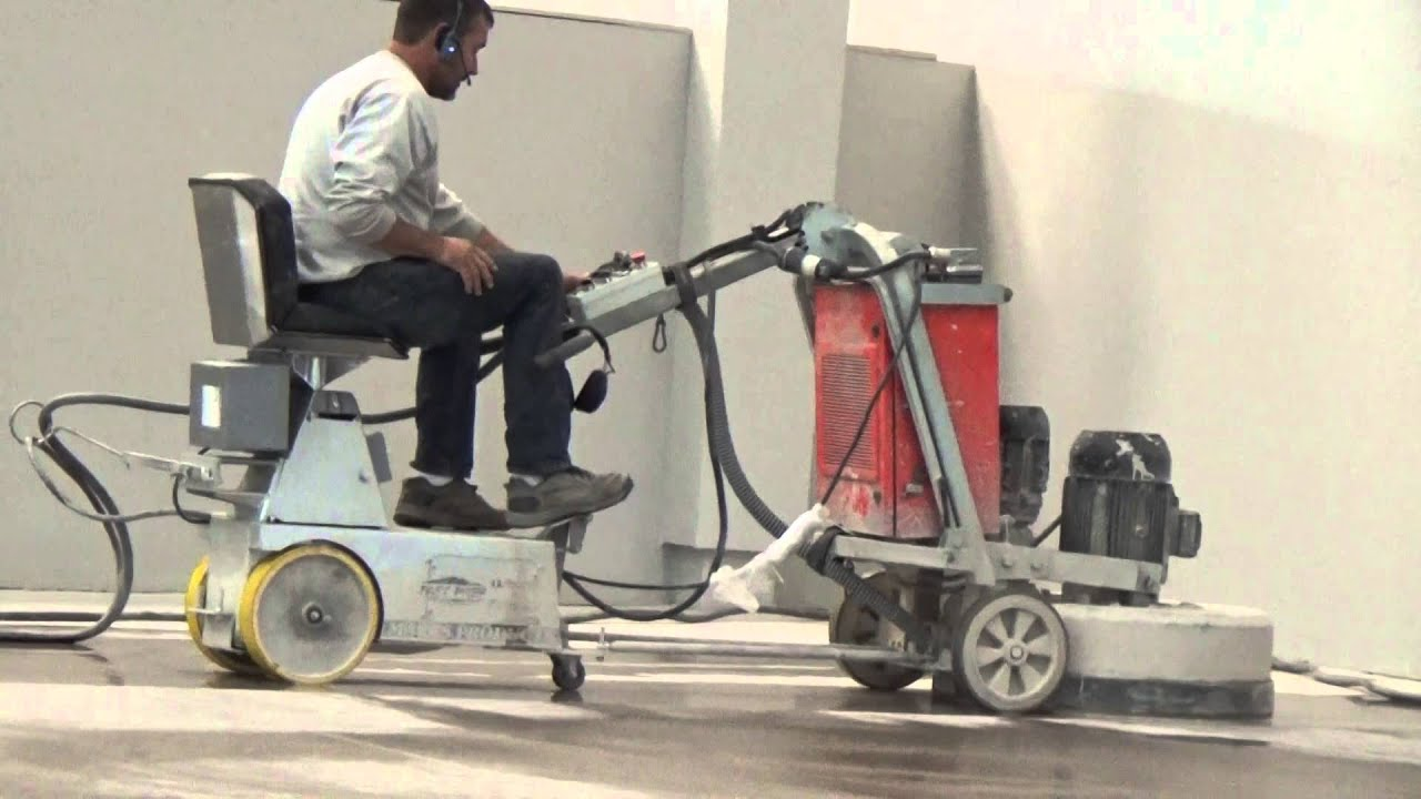 us abrasives concrete grinder ride on attachment - youtube