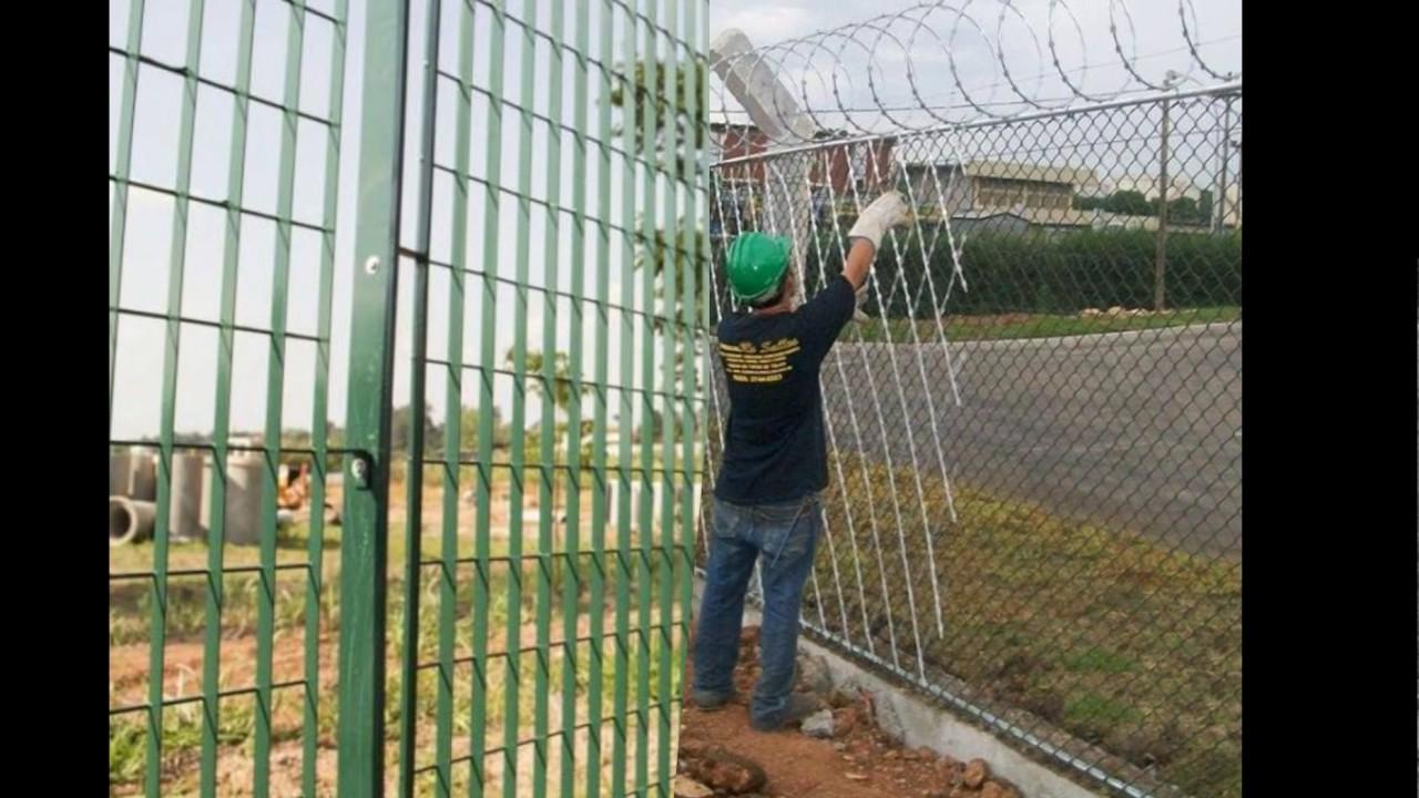 Telas alambrados cercas muros youtube for Tela para muro verde